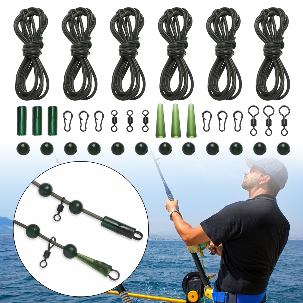 3 x Pre Rigged Rig Tube Helicopter Chod Hair Rigs Carp links Tackle New P7N7
