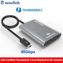 Usb-Hub-Adapter Type-C Dual-Displayport Thunderbolt 3 USB3.1 Laptop/desktop-Wavlink Super-Speed