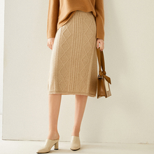 Autumn/Winter 2020 new fashion 100% pure cashmere skirt slim long skirt