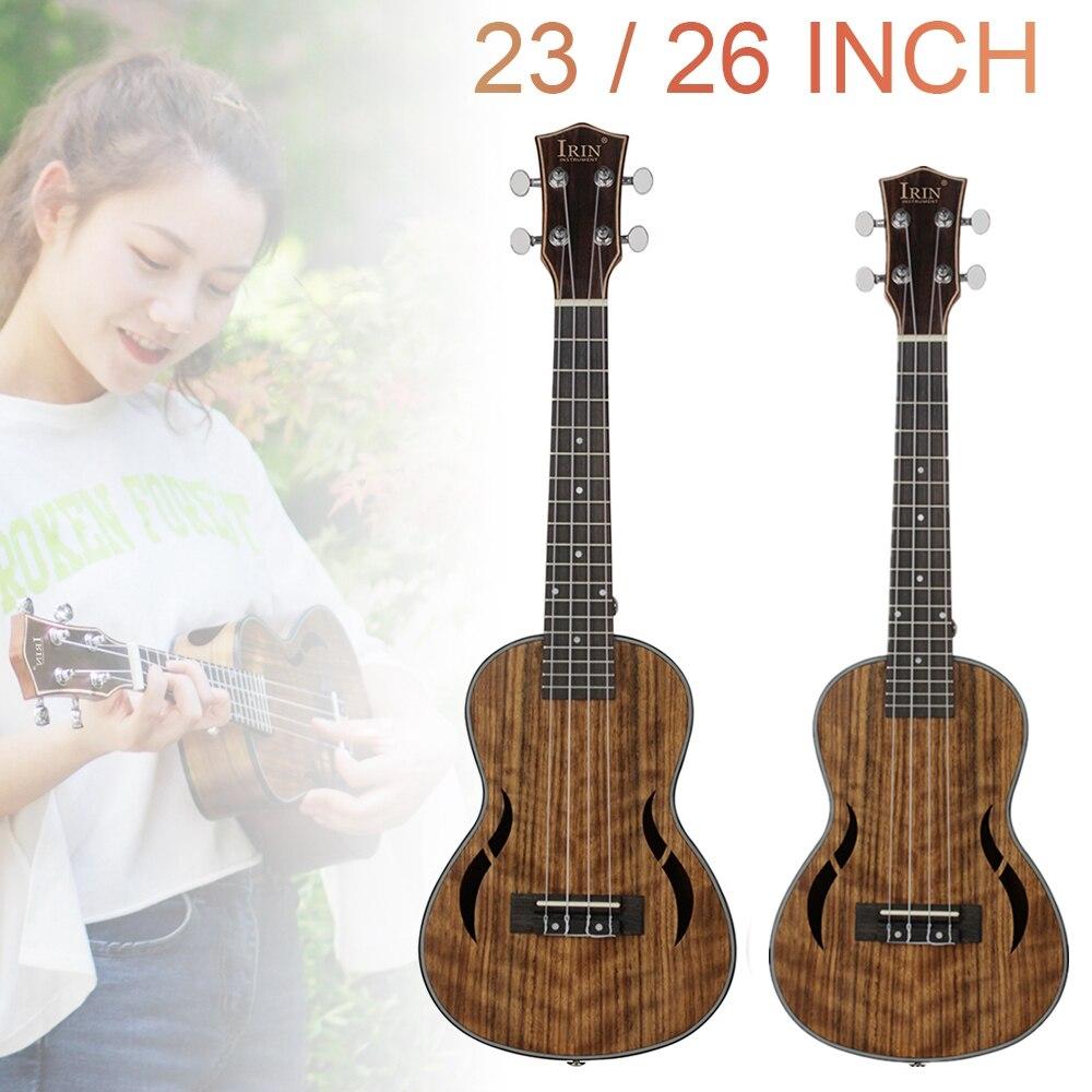 Ukelele Tenor de concierto de 23 / 26 pulgadas, madera de nogal, 18 trastes, cuatro cuerdas, guitarra hawaiana, Mini Guitarra para actuaciones y principiantes