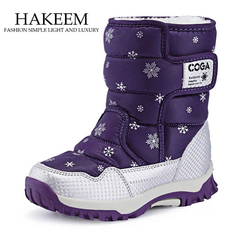 Girls Snow Boots Children Shoes Winter Boots For Girls Sport Child Shoes Kids Sneakers 2019 Brand Fashion Sport Boots
