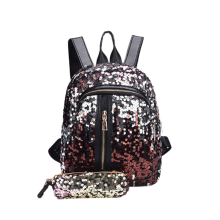 New Shiny WomenS Sequin Backpack Travel Large Capacity Handbag Portable Party Mini Bag