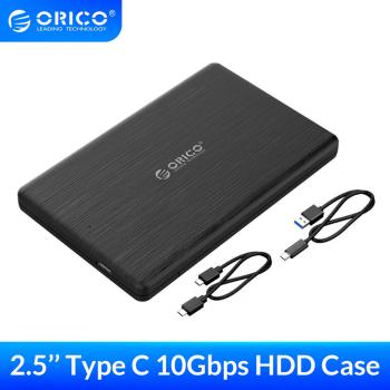 ORICO HDD Case 2.5 inch SATA to USB3.1 Gen2 Type-C/ USB3.0 SSD Adapter for 7mm USB C Hard Disk Drive Box External HDD Enclosure tool free 10gb s usb 3 1 type c hdd enclosure with ventilation holes sata 3 0 ssd mobile box usb c to sata 6gb s case asm1351