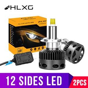 Image 1 - H1 H7 светодиодный H8 H11 HB3 9005 HB4 9006 12 Сторон 3D светодиодный головной светильник s мини высокой мощности 30000LM автомобильный светильник лампы 360 градусов диод для автомобильных фар