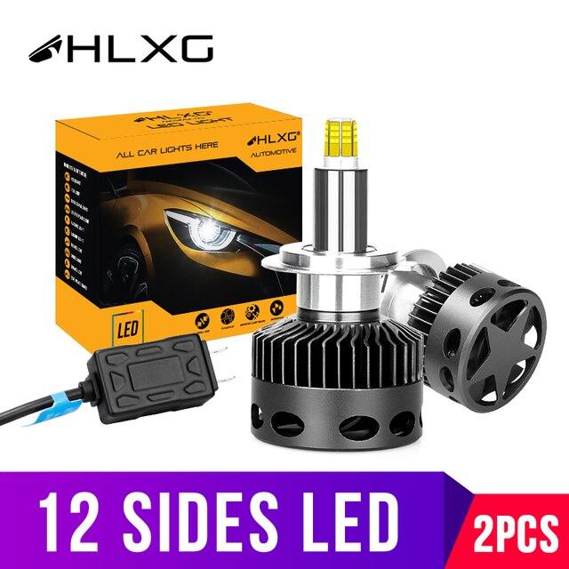 H1 H7 светодиодный H8 H11 HB3 9005 HB4 9006 12 Сторон 3D светодиодный головной светильник s мини высокой мощности 30000LM автомобильный светильник лампы 360 градусов диод для автомобильных фар