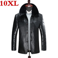 2019 new plus size 10XL 9XL 8XL genuine leather coat for men Cotton liner sheepskin leather jacket winter jackets for men
