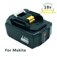 Сменный аккумулятор 18 в 5 0 Ач со светодиодным индикатором для литий-ионных электроинструментов Makita LXT 194205-3 BL1830 BL1850 BL1840