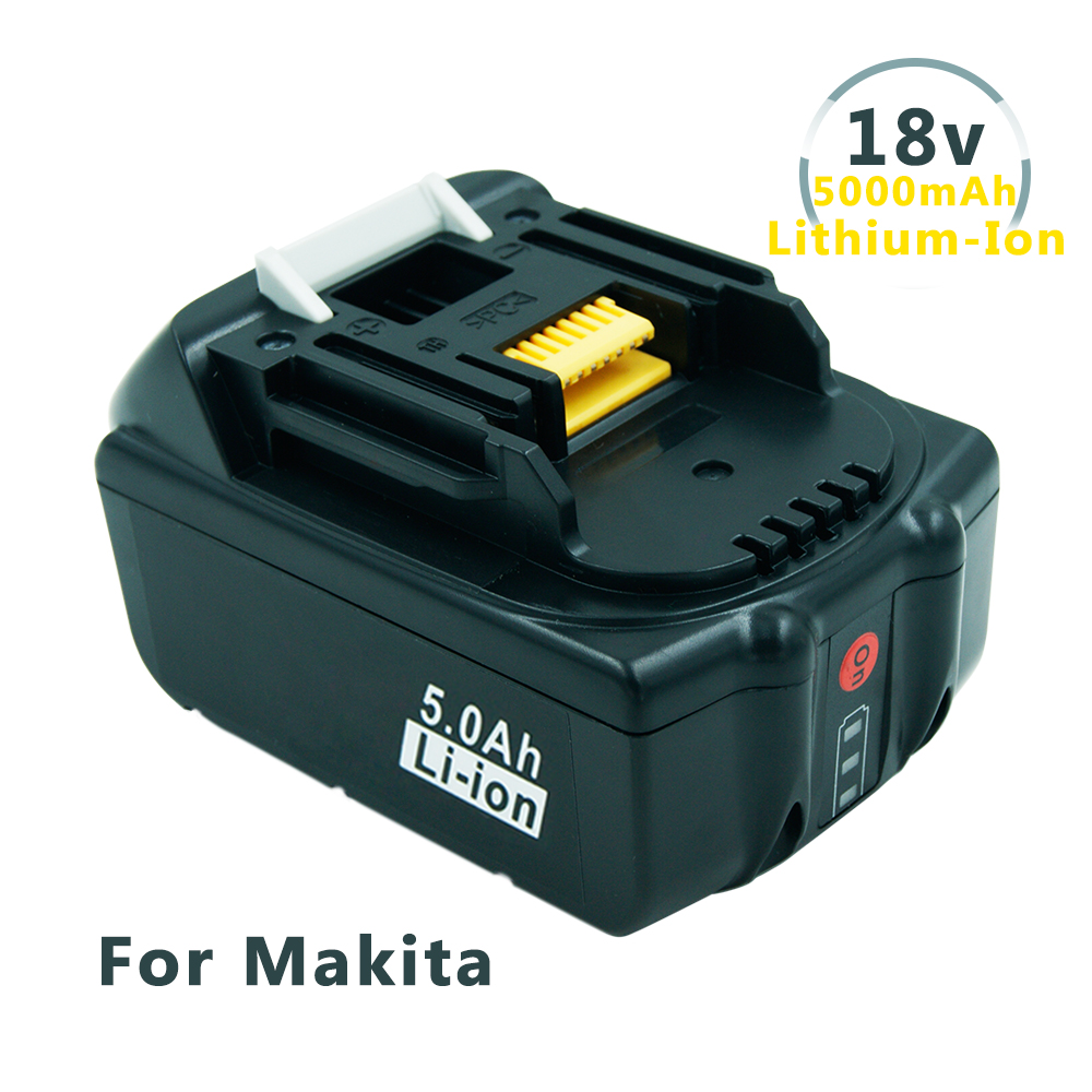 New Replacement 18V 5.0Ah Battery with LED Indicator for Makita LXT Lithium Ion Power Tools 194205 3 BL1830 BL1850 BL1840|battery replacement|battery battery battery|batteries batteries - title=