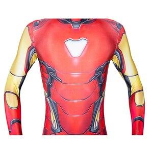 Костюм Железного человека, красного цвета, Детский комбинезон супергероя для взрослых, Детский костюм на Хэллоуин