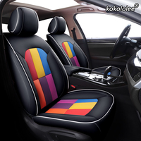 kokololee Custom Leather car seat cover set For Porsche Cayman Macan panamera Cayenne Boxster Automobiles Seat Covers cars