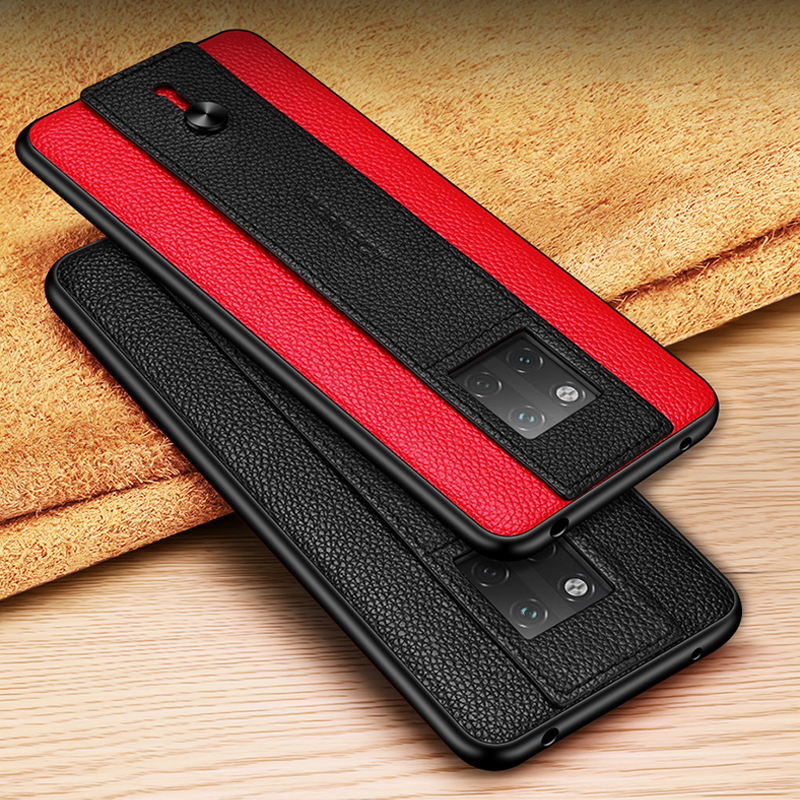 Image 2 - Luxury Fashion Wrist Case For Huawei Mate 30 20 Pro X 20X 5G RS Porsche Design P30 Pro Genuine Leather TPU Frame Back Case CoverFitted Cases   -