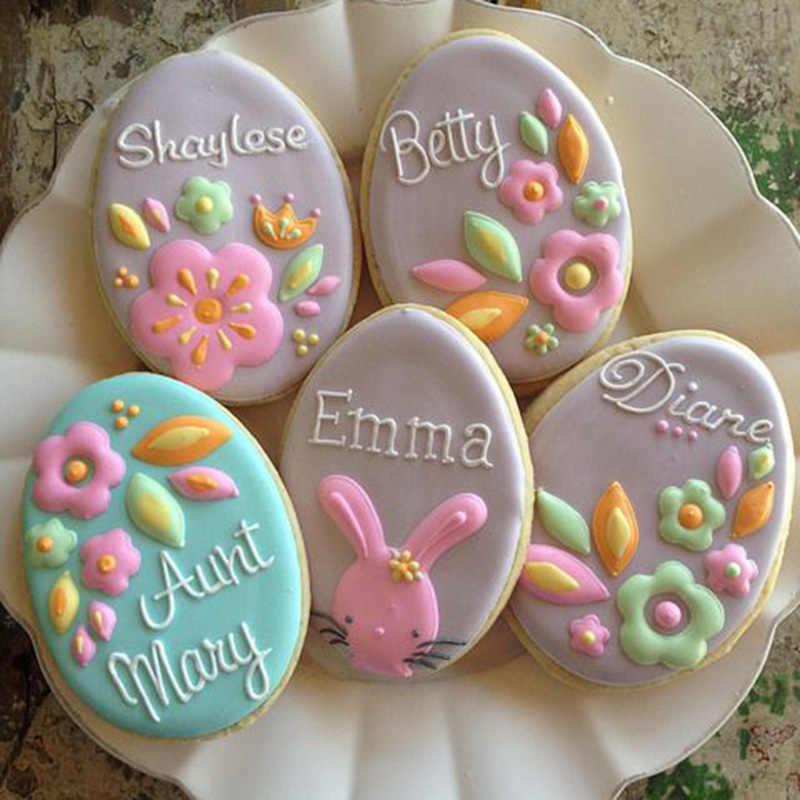 Trứng Phục Sinh Thỏ Gà Củ Cải Bánh Quy Cắt Khuôn Đồng Nướng Bánh Trang Trí Dụng Cụ Mừng Lễ Phục Sinh Trang Trí Cho Gia Đình