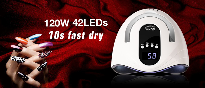 sensor 42 pçs uv led lâmpada rápida