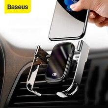 Baseus 15W Беспроводной автомобиля Зарядное устройство Qi Беспроводной Зарядное устройство в держатель на вентиляционное отверстие автомобиля держатель инфракрасный Сенсор Беспроводной держатель телефона с подзарядкой
