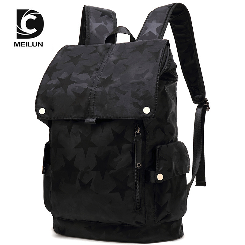 bag Male fashion personality computer backpack high school studentsschoolbag leisure Korean version travel
