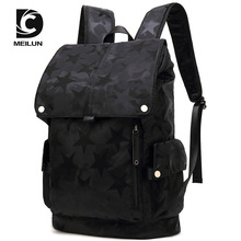 bag Male fashion personality computer backpack Male high school students'schoolbag leisure Korean version travel bag цена