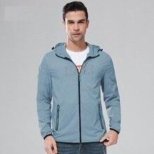 Thin Sunscreen Jacket Men Spring Autumn Plus Size 5XL Male Cap Overalls Summer sun-proof Windbreaker Clothing