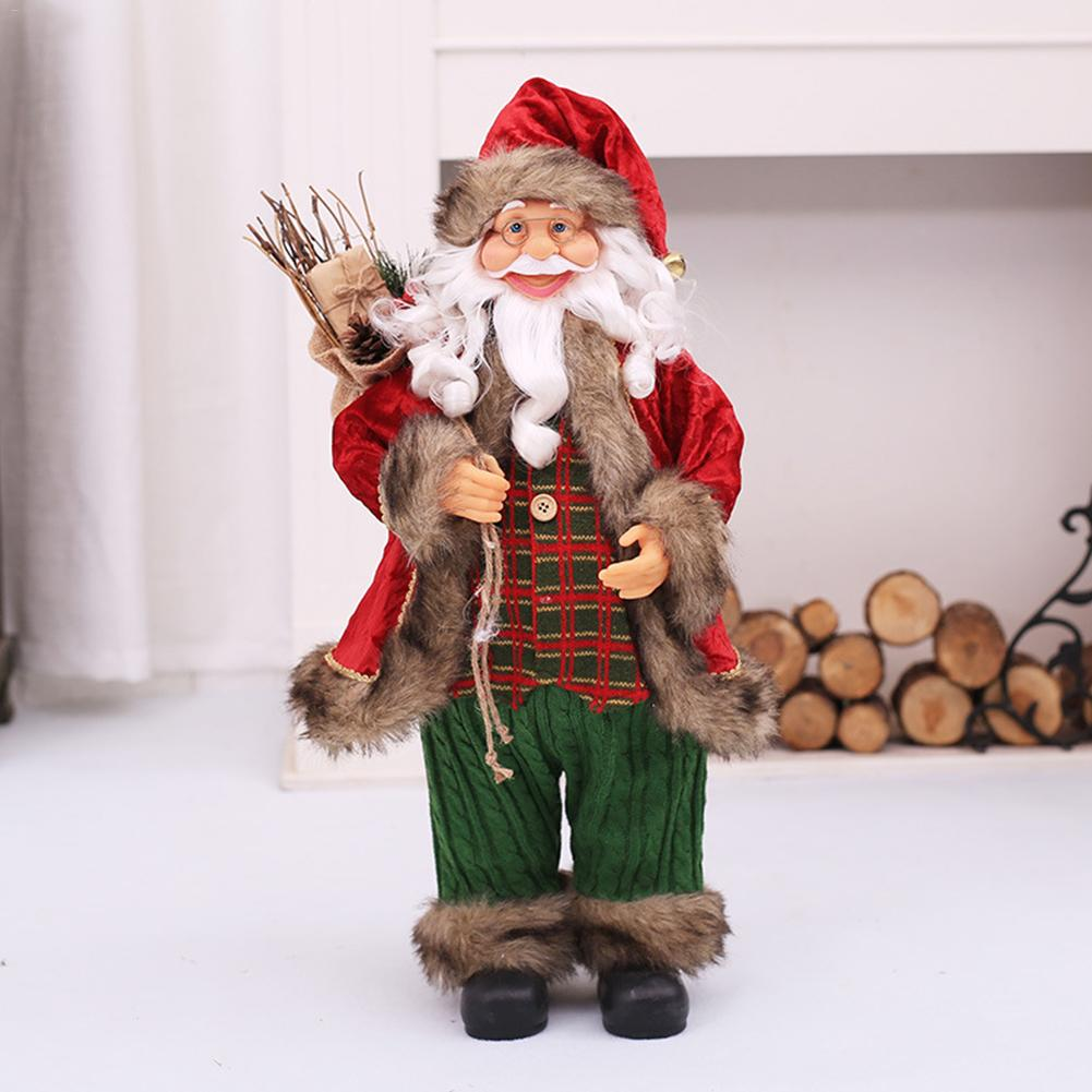 BIG Decor New Year Santa Claus Christmas Doll Home Decoration Merry Christmas Kids Gift Fabric Toys Xmas Table Decor Ornament