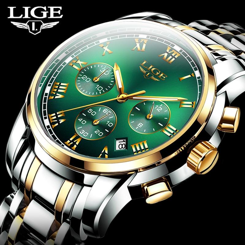 2020 New LIGE Top Brand Luxury Mens Watches 30m Waterproof Date Clock Male Sports Watch Men Quartz Wrist Watch Relogio Masculino
