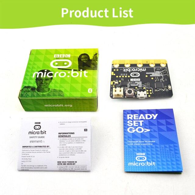 ה BBC מיקרו: קצת NRF51822 פיתוח לוח מיקרו בקר עם זיהוי תנועה מצפן LED תצוגת מיקרו קצת