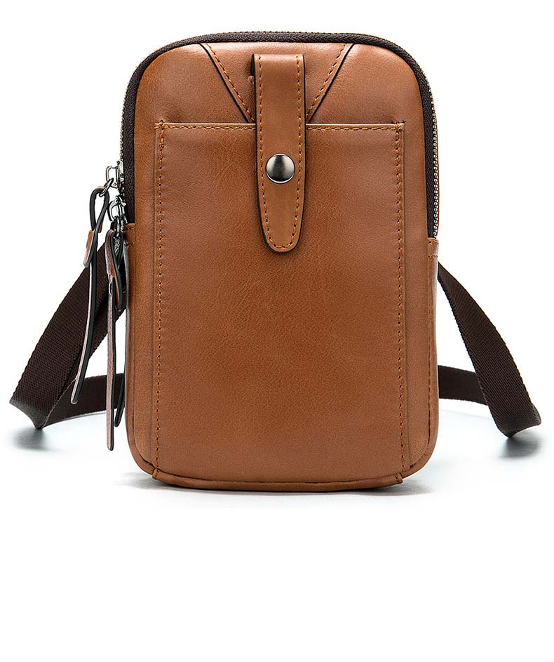 Waterproof Oil Wax Canvas Bag, Casual Literature One-shoulder Diagonal Cross Bag, Men's Vintage Postman Bag For  Male's