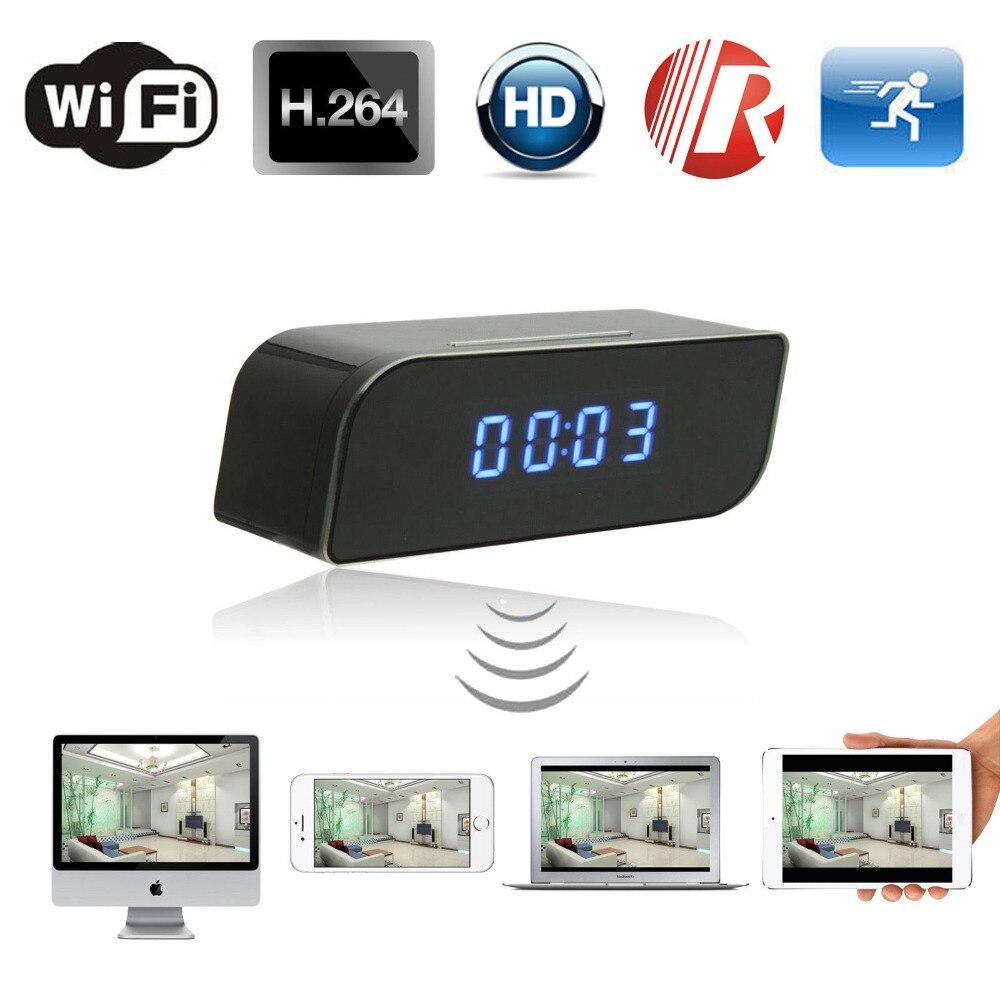 Secret Desktop Table Clock With Micro Video Mini Camera Wifi IP Cam Full HD 1080p Wireless Minicamera Wi-Fi Small Microcamera DV