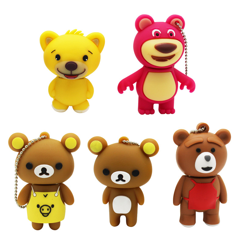 BiNFUL Best Gift Lovely Mini Bear Pendrive 4G 8G 16G 32G 64G Usb 2.0 Usb Flash Drivdriveck Pendrive