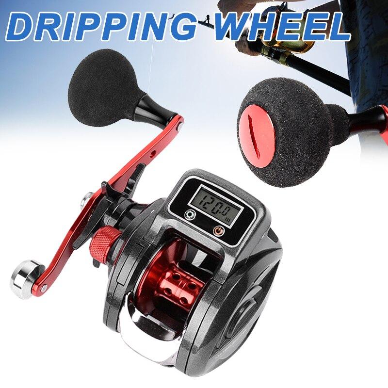 Nouveau moulinet de pêche en métal accessoires de canne à affichage numérique outil de pêche 16 + 1 6.3: 1