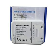 Led コントローラ rgb/ww/cw wifi 5 チャンネル、 16 色スマートフォン制御音楽とタイマーモード魔法ホーム無線 lan led コントローラ