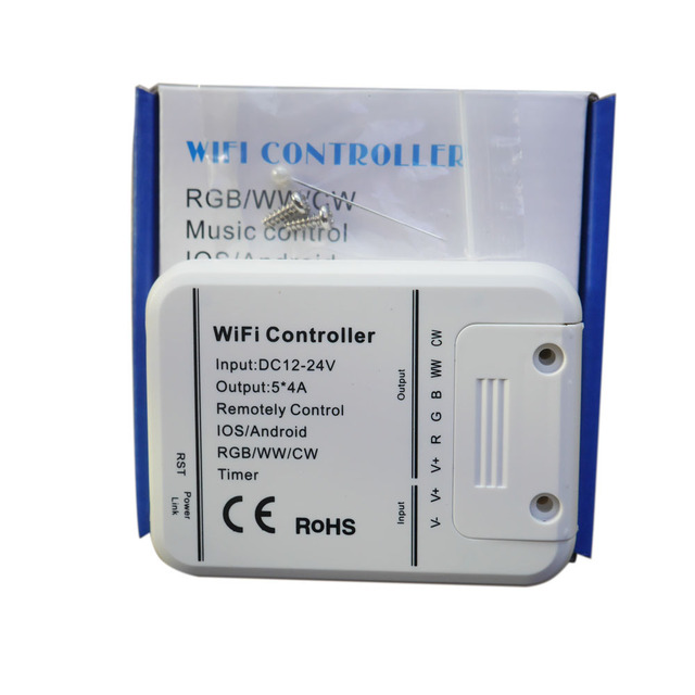 led controller RGB/WW/CW Wifi 5channels,16Million colors smartphone control music and timer mode magic home wifi led controller
