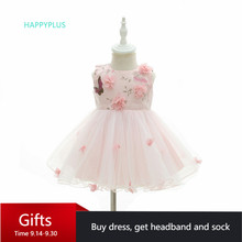 HAPPYPLUS السنة الجديدة زي طفلة فستان عيد الميلاد يتوهم طفلة الأولى عيد ميلاد الطفل الرضع فتاة فستان حفلة الأميرة