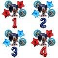6 шт./компл. звуковые фольгированные шары, 30 дюймов, цифры 1-9, фольгированные шары, надувной шар для дня рождения, детский праздник, декоративн...