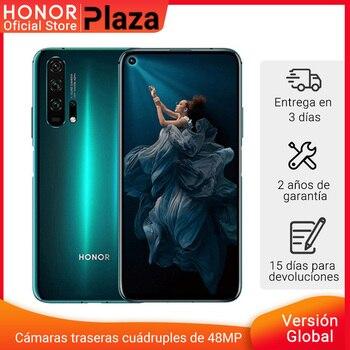 Перейти на Алиэкспресс и купить Глобальная версия HONOR 20 Pro Google Play смартфон 6,26 '8Гб 256 ГБ Kirin 980 Восьмиядерный 48мп камера мобильный телефон NFC