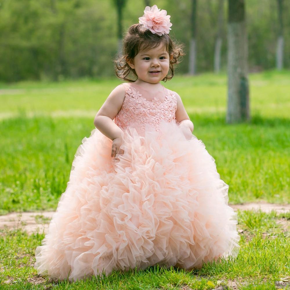 Robe de demoiselle d'honneur pour enfants robe de bal de mariage pour la première Communion enfant en bas âge fille Pageant robes longues robes de soirée