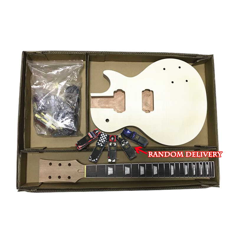 Mahogany Body Electric-Guitar-Kits Unfinished Aiersi DIY LP with All-Hardwares Solid title=