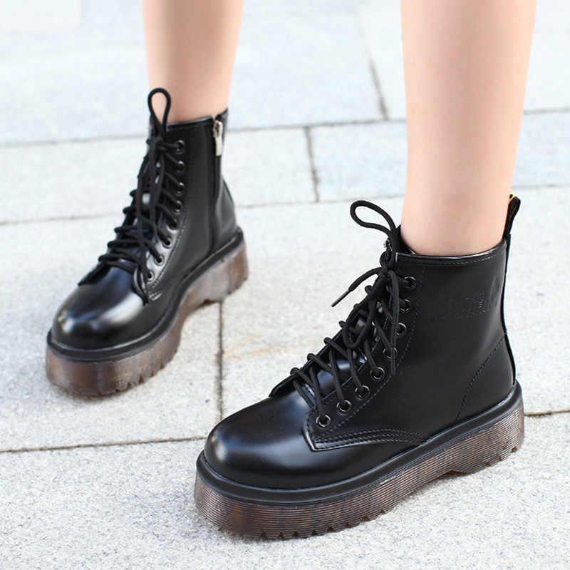حذاء من الجلد للنساء أحذية كاوبوي جلد منصة أحذية النساء أحذية الشتاء فاسق مكتنزة دراجة نارية الأحذية الفراء السيدات حقيقية
