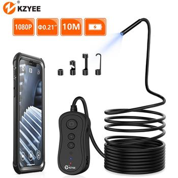 KZYEE 1080P WIFI Endoscope Camera 5.5mm HD wireless Inspection Camera endoscop 3.5M 5M 10M WIFI Endoscope camera for Android IOS syanspan 9 wifi pipe inspection video camera drain sewer pipeline industrial endoscope support android ios 360 rotation 20 100m