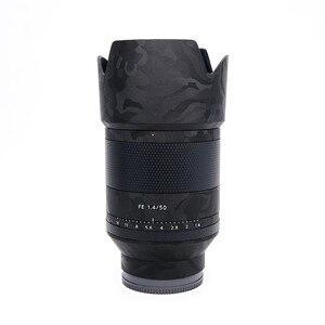 Image 4 - עדשת משמר מדבקות עור לעטוף כיסוי מגן עור Sony FE 50 f1.4 נגד שריטות