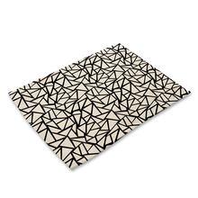Креативная подставка под тарелку с геометрическим рисунком океана