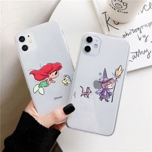 Chibi Mini Princesses Cute Belle Snowwhite Pastel Phone Case Cover For Iphone 11 Pro max X Xs Xr 6 6s 7 8 Plus 5s Cases For Girl