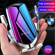 Automatic Clamping Infrared Auto Induction QI Car Wireless Charger Stand for IPhone 11 Pro Max XS Samsung Galaxy S8 S9 S10 Plus