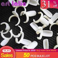 50 pièces acrylique complet ongles conseils vernis UV Gel couleur Pops affichage ongles Art anneau Style ongles conseils