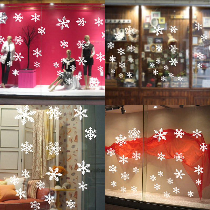 27Pcs Christmas Snowflake Window Sticker Christmas Wall Stickers Room Wall Decals Christmas Decorations for Home New Year 2021 5