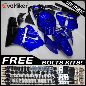 Custom fairing motorcycle bodywork kit for ZX-12R 2000-2001 ABS motor panels Injection mold blue black+gifts