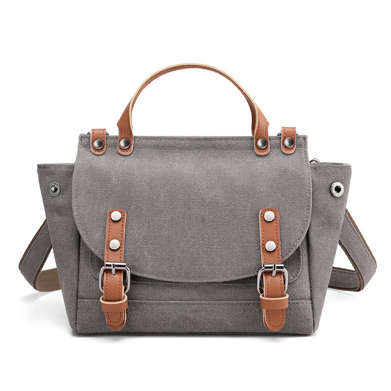 England Style Bag Canvas Women's Bag Fashion Trend Joker Shoulder Messenger Bag Small Bag Simple Atmosphere Handbag