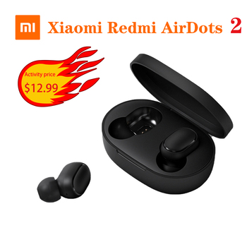 Xiaomi Redmi Airdots 2 Earphone Stereo bass With Mic Handsfree Earbuds AI Control TWS Bluetooth 5.0