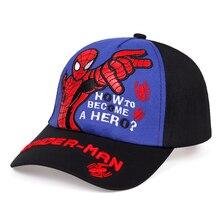 Summer fashion spiderman embroidery baseball cap children ad