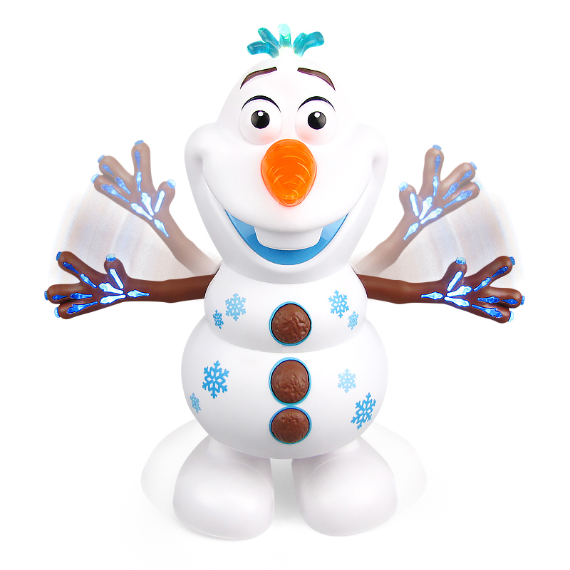 Hot Movie Olaf PVC Action Figures Toys Electric Dancing Snow Light Concert Singing Hand Dancing Machine Snowman Christmas Gifts