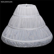 Petticoat Crinoline White Dress Underskirt Wedding-Accessories Flower-Girl One-Layer