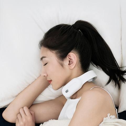 inteligente portatil eletrico pescoco massageador aquecimento massagem alivio da dor ferramenta cuidados de saude relaxamento